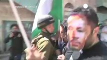 Palestinian protests as Obama visits Middle East