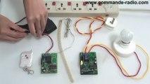 Kit Commande radio avec émetteur 2récepteur sans fil pour commander deux appareils electriques à distance