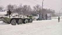 Heavy snow blankets Kiev