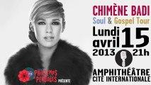 Chimène Badi en concert le 15 avril 2013 Cité internationale de Lyon
