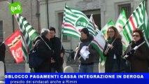Sblocco pagamenti cassa integrazione in deroga presidio dei sindacati