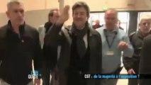 J-L Mélenchon au congrès de la CGT