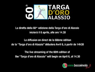 Diretta Streaming 60° Targa d'oro Alassio 2013