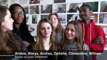Tour de France de l'éducation artistique et culturelle : Visite d'Aurélie Filipetti au lycée professionnel d'Alembert
