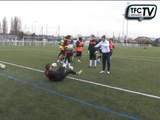 Un entrainement spécifique en compagnie des gardiens de but du Tours FC