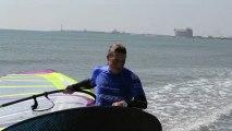 Alex Caizergues en windsurf pour la Sosh Cup 2013