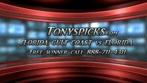 Florida Gators versus Florida Gulf Coast Eagles Pick Prediction NCAA Tournament College Basketball Betting Odds Preview 3-29-2013