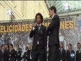 El Ayuntamiento de Madrid recibe a los campeones de Liga