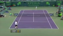 Richard Gasquet hits a 103 mph backhand winner (2013 Sony Open)