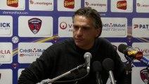 Conférence de presse Clermont Foot - RC Lens : Régis BROUARD (CFA) - Eric SIKORA (RCL)