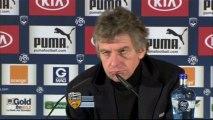 Conférence de presse Girondins de Bordeaux - FC Lorient : Francis GILLOT (FCGB) - Christian  GOURCUFF (FCL) - saison 2012/2013