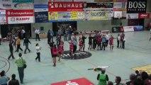 Joie joueuses du TuS Metzingen pour leur maintien en 1ère division de Bundesliga Handball féminine