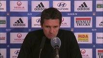 Conférence de presse Olympique Lyonnais - FC Sochaux-Montbéliard : Rémi GARDE (OL) - Eric HELY (FCSM) - saison 2012/2013