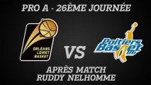 Réaction de Ruddy Nelhomme - J26 - Réception de Poitiers