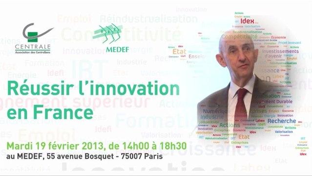 19 février 2013 : Réussir l'innovation en France