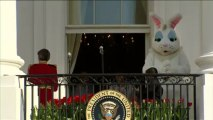 Pâques: les Obama lancent la chasse aux oeufs