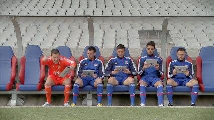 Défi entre les joueurs de l'Olympique Lyonnais - telefoot - tf1