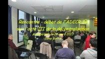 Acte III de la décentralisation : 2ème partie du débat entre les forces politiques de gauche à Montpellier le 29 mars 2013