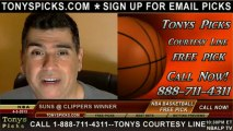 LA Clippers versus Phoenix Suns Pick Prediction NBA Pro Basketball Lines Odds Preview 4-3-2013