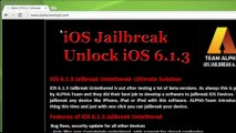 Untethered iOS 6.1.3 Jailbreak for ALL DEVICES on Mac and Windows