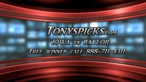 Baylor Bears versus Iowa Hawkeyes Pick Prediction NIT Tournament Championship Game College Basketball Lines Odds Preview 4-4-2013