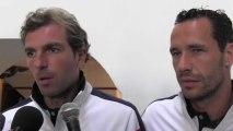 Coupe Davis : Michaël Llodra et Julien Benneteau évoquent le double face à l'Argentine