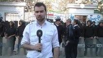 Euronews muhabirine saldırı
