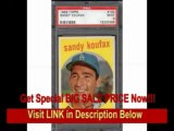 [SPECIAL DISCOUNT] GORGEOUS 1959 TOPPS #163 SANDY KOUFAX PSA 9 MINT DODGERS BASEBALL CARD!