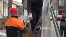Renc'Art 2013, Michel Dardaine sculpte sur glace