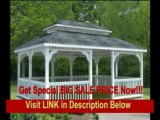 [BEST PRICE] 12' x 18' Vinyl Rectangular Double Roof Gazebo