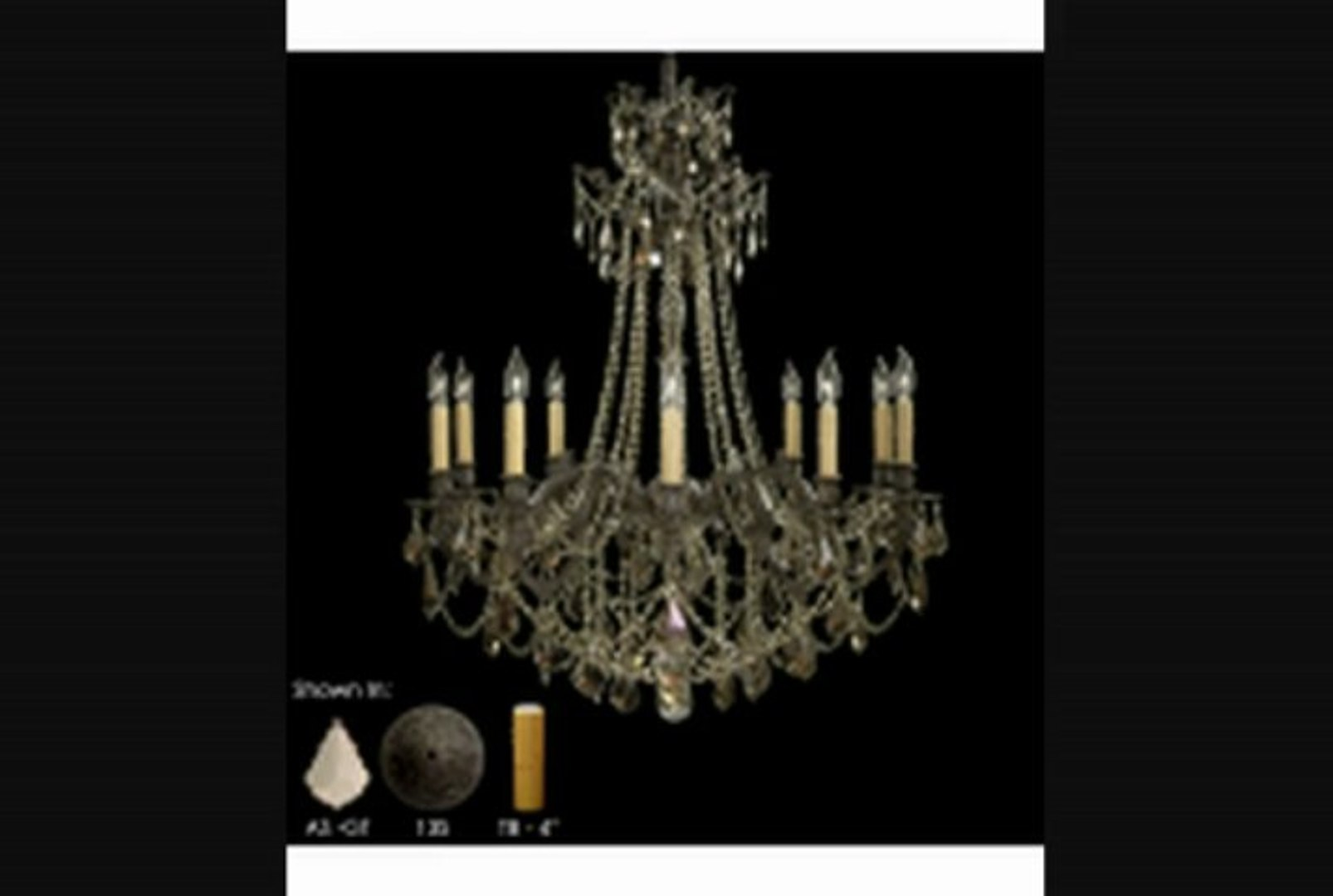 American Brass And Crystal Ch9258as07mtb Biella 12 Light Single Tier Chandelier In Pewter With Clear