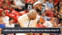 LeBron Returns for Heat; Spurs Survive