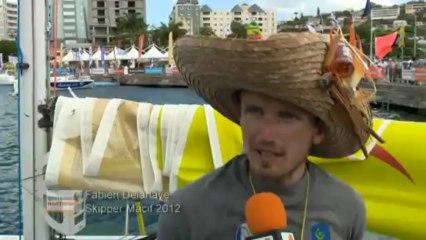Arrivée de Fabien Delahaye - Skipper Macif 2012