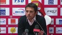 Conférence de presse Stade de Reims - Olympique Lyonnais : Hubert FOURNIER (SdR) - Rémi GARDE (OL) - saison 2012/2013