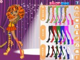 Howleen in a dance class dress up game