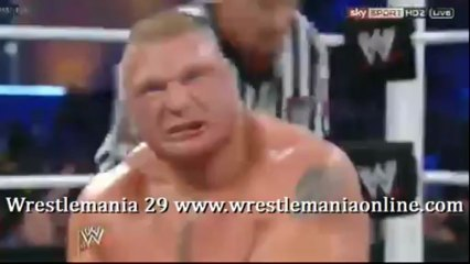 Wrestlemania 29 Lesnar F5 Triple H and Shawn Michaels video