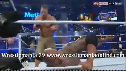Wrestlemania 29 The Rock vs John Cena 2 Rock Samoan Drops Cena233.mp4