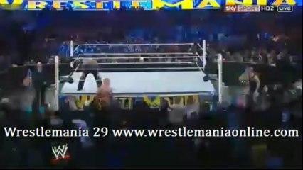 Wrestlemania 29 Triple H chair shots Brock Lesnar video