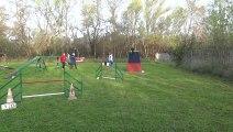 Karine et Blue Boy   concours agility Salles d'Aude 07/04/2013