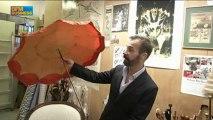 L'insolite du jour : Les parapluies de luxe de Michel Heurtault dans Paris est à vous - 9 avril