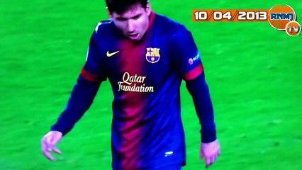 Messi arcadas FC Barcelona - PSG (10/04/2013)