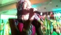 Ana Teko lors du lancement de son nouvel album au Bénin Marina Hotel