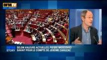BFM STORY: Selon Valeurs Actuelles, Pierre Moscovici savait pour le compte de Jérôme Cahuzac - 11/04