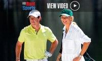 Caroline Wozniacki Caddying for Rory McIlroy