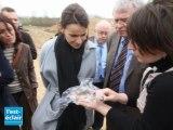 Aurélie Filippetti visite la nécropole de Buchères