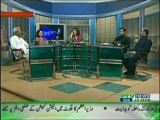 Tajziya Huma Baqai kay Saath on PTV News – 14th April 2013