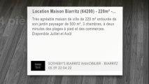 A louer - maison - Biarritz (64200) - 4 pièces - 220m²