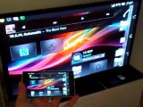 Part 2 Wi-Fi Miracast Screen Mirroring demoed on the Xperia Z and Samsung TV/LG BP 630