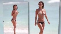 Rachel Bilson fait le singe en bikini