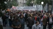 Greek protests against public sector cuts
